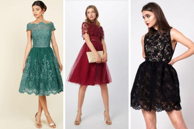 W rozkloszowanej sukience z koronki będziesz się prezentować bardzo stylowo, zwłaszcza przy szczególnych okazjach, fot. noshame.pl, About You, Showroom.
