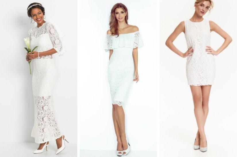 W naszym katalogu znajdziesz też sukienki koronkowe, które będą doskonałe jako ślubne kreacje, fot. bonprix.pl, merg.pl, TopSecret.
