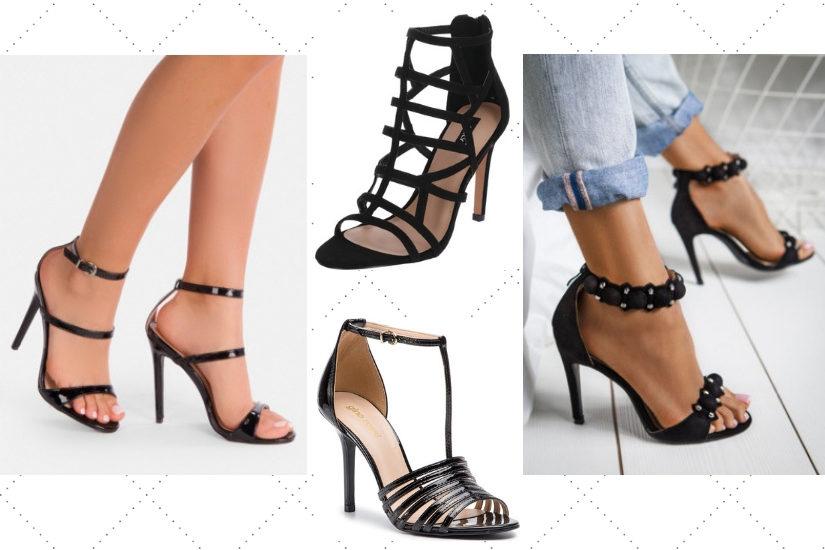 Czarne sandały na szpilce będą najbardziej uniwersalnym wyborem na wiosnę i lato