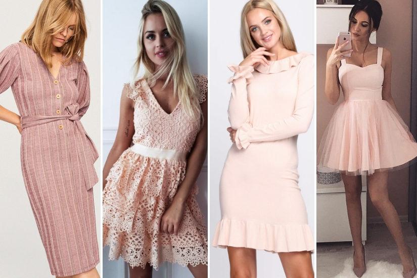 Sukienki w kolorze pudrowego różu sprawdzą się na każdą okazję
