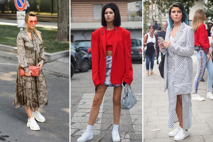 To właśnie białe sneakersy najczęściej pojawiają się w modzie ulicznej i na wybiegach