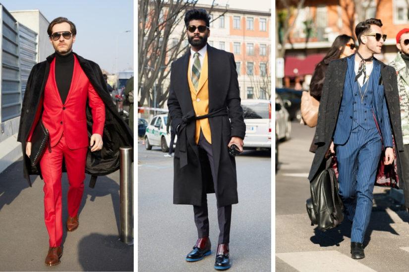 Kolor i fason butów dopasuj do odcienia garnituru oraz swojego stylu.