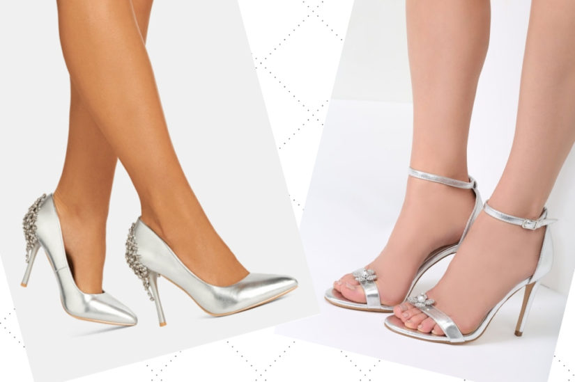 Srebrne buty na obcasie pięknie uzupełnią eleganckie stylizacje, ale sprawdzą się też na co dzień, fot. DeeZee, Renee.