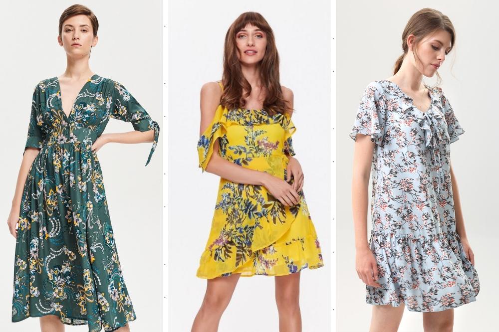 4464f2d977 Kwieciste modele sukienek w wiosennych kolorach