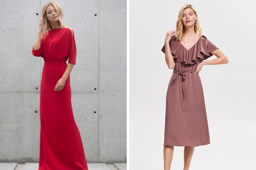 fd5bdd3e3d Eleganckie sukienki weselne midi – długość idealna na przyjęcie