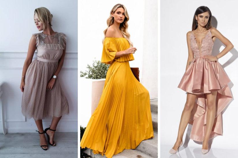 03e17a6fe5 Bardzo efektownie wyglądają również beżowe sukienki na wesele. Wiosną i  latem pięknie skomponują się z delikatną opalenizną i złotymi akcesoriami.