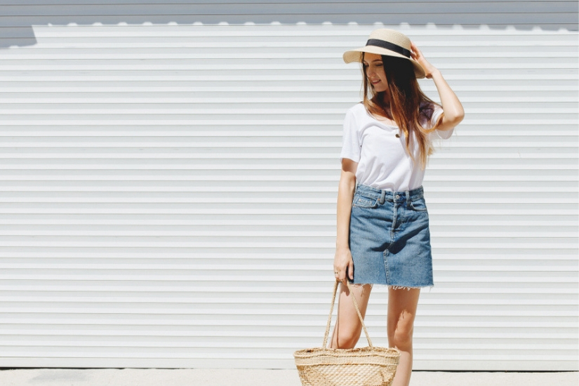 modna spódnica jeansowa