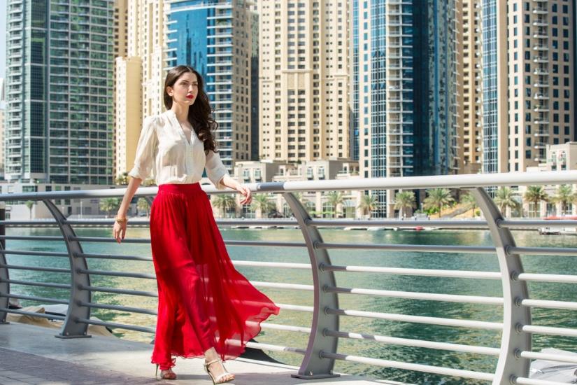 modne czerwone spódnice lato 2019