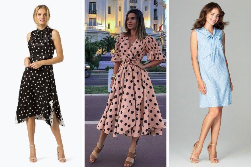 Sukienki w groszki na lato 2019 – ten model ciągle jest