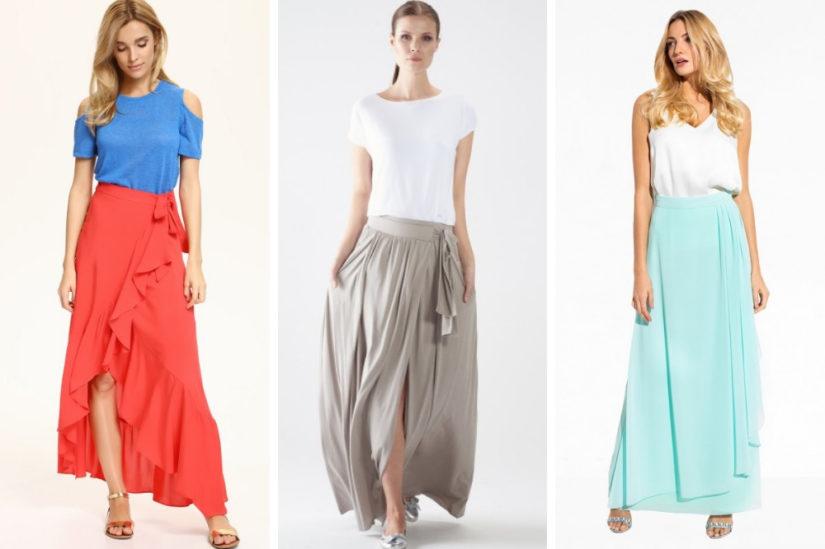 Długie spódnice na lato 2019 – fasony i stylizacje idealne
