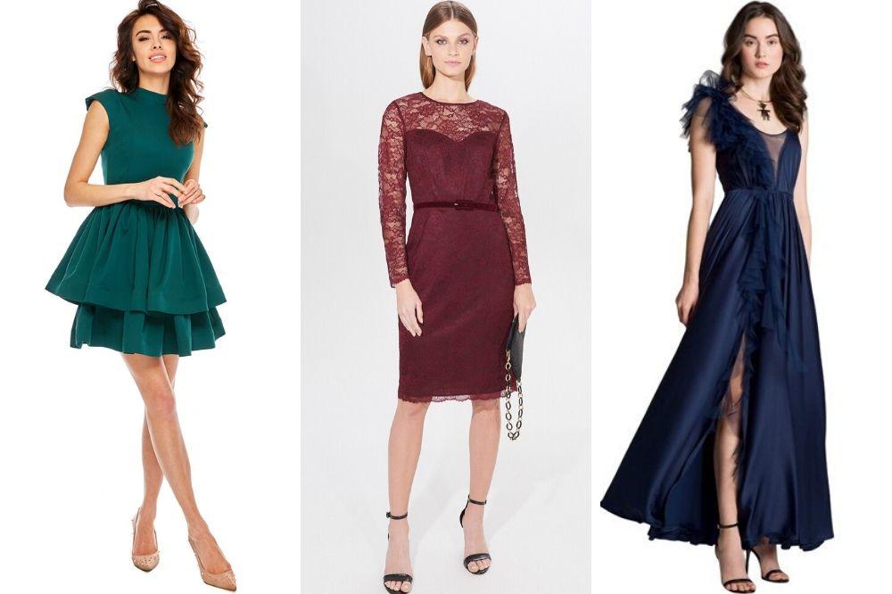 Kolor sukienki na wesele zimą, fot. showroom.pl,