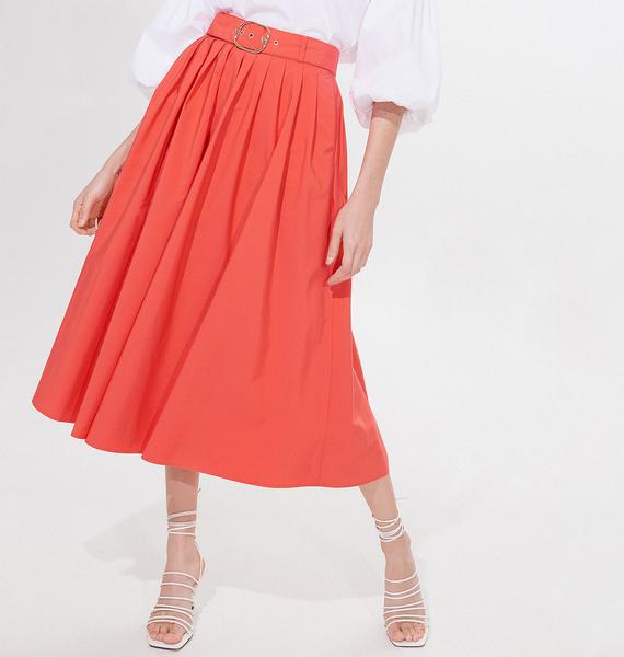 pomarańczowa spódnica mohito midi