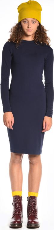 Granatowa sukienka gate to uniwersalny model do pracy