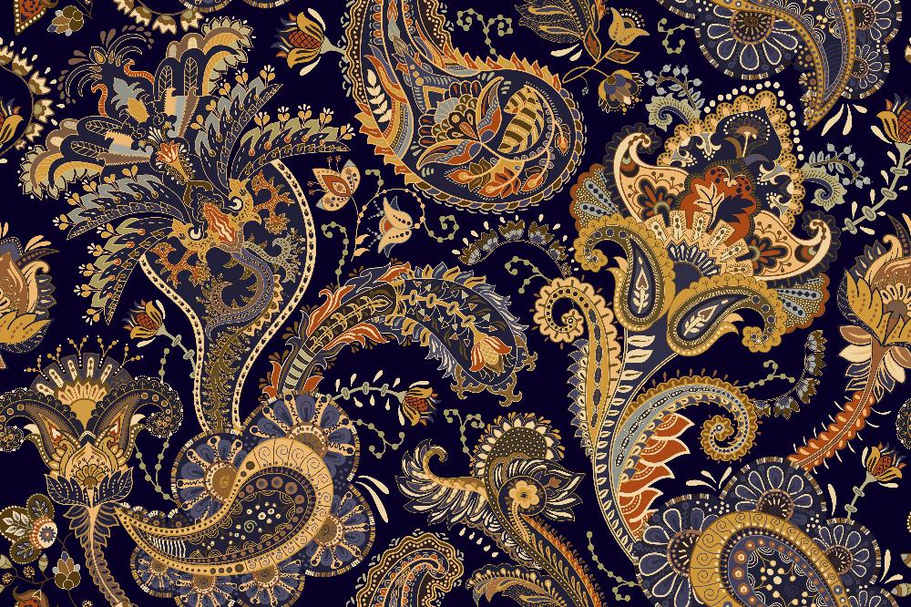 Wzór paisley idealnie odnajduje się w stylizacjach boho
